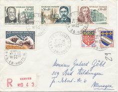 France Registered Cover Sent To Germany Vanves 22-3-1966 - France