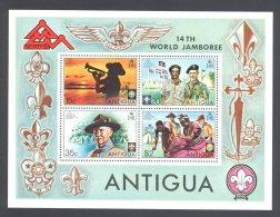 Antigua - 1975 Scouts Block MNH__(THB-5640) - 1960-1981 Autonomie Interne