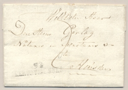 Nederland - 1823 - Complete Vouwbrief Van 93 GEERTRUIDENBERG Naar Heusden - ...-1852 Voorlopers
