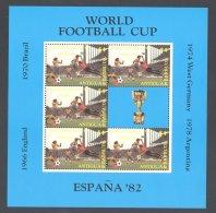 Antigua - 1982 World Cup 4$ Kleinbogen MNH__(THB-4928) - Antigua Y Barbuda (1981-...)