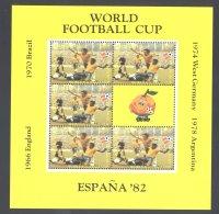 Antigua - 1982 World Cup 50c Kleinbogen MNH__(THB-4921) - Antigua Y Barbuda (1981-...)