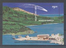 Antigua - 1986 Halley's Comet (II) Block MNH__(TH-19093) - Antigua Und Barbuda (1981-...)
