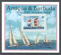 Antigua - 1988 Sailing Week Block MNH__(TH-17019) - Antigua Und Barbuda (1981-...)