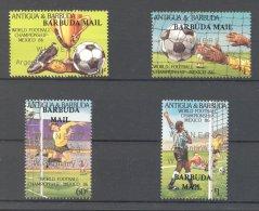 Barbuda - 1987 Football World Cup Overprints *mint HINGED*__(TH-16791) - Antigua And Barbuda (1981-...)
