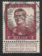 Belgium, Scott # 102 Used King Albert 1, 1912 - 1912 Pellens