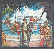 Madagascar - 1987 Discovery Of America Block MNH__(TH-4518) - Madagascar (1960-...)