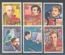 Madagascar - 1988 Musicians MNH__(TH-9749) - Madagascar (1960-...)