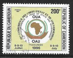 Cameroun, Scott # 902A Used OAU Conference, 1997 - Cameroon (1960-...)