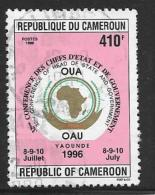Cameroun, Scott # 903 Used OAU Conference, 1996 - Cameroon (1960-...)