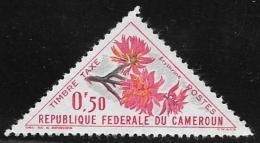 Cameroun, Scott #J35  MNH Postage Due Flowers, 1963 - Cameroon (1960-...)