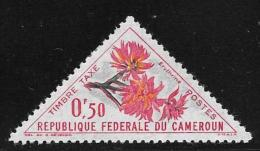 Cameroun, Scott #J35  Mint Hinged Postage Due Flowers, 1963 - Cameroon (1960-...)