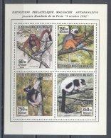 Madagascar - 1992 Lemurs Block MNH__(TH-12896) - Madagaskar (1960-...)