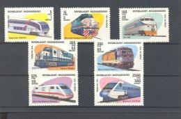Madagascar - 1993 Locomotives MNH__(TH-18273) - Madagaskar (1960-...)