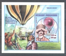 Madagascar - 1998 History Of Ballooning Block MNH__(TH-8328) - Madagascar (1960-...)