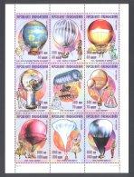 Madagascar - 1998 History Of Ballooning Kleinbogen MNH__(THB-5849) - Madagascar (1960-...)