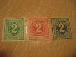 CHEMNITZ Hammonia Michel 7/9 PRIVATE Stamp Local Postal Service Germany - Private