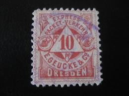 DRESDEN Express Packet Verkehr Michel 6 (Cat. 1999: 6 Eur.) PRIVATE Stamp Local Postal Service Germany - Poste Privée
