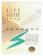 Rare // Etiquette // Fendant, Rive Gauche 1992, Cave Orsat Martigny, Valais  // Suisse - Etiquettes