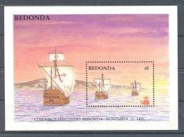 Redonda - 1988 America (I) Block (1) MNH__(TH-7164) - Antigua Und Barbuda (1981-...)