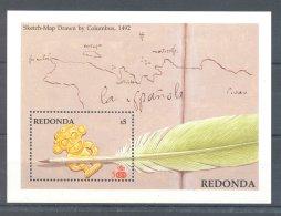 Redonda - 1988 America (I) Block (2) MNH__(TH-3108) - Antigua Und Barbuda (1981-...)
