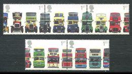 210 GRANDE BRETAGNE 2001 - Yvert 2253/57 - Autobus Imperial Double Etage - Neuf ** (MNH) Sans Trace De Charniere - Ungebraucht