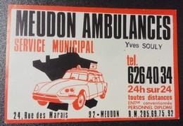 Meudon Ambulance (année 70) - Advertising