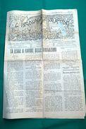 """ALBENGA 15 NOEMBRE 1921-N°10-GIORNALE DI PROPAGANDA AGRARIA E COOPERATIVA-""""L'INGAUNIA AGRARIA"""" Originale 100% - Books, Magazines, Comics"""