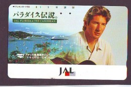 Télécarte  JAPON * 110-114571 * RICHARD GER *  JAS  (2307) * Phonecard JAPAN * Airplane * Flugzeug AVION * AIRLINE - Airplanes