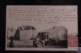 ILLY CYCLONE DU 9 AOUT 1905 UNE MAISON DU VILLAGE BELLE ANIMATION - Frankrijk