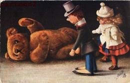 ILLUSTRATEUR FRITZ HILDEBRANDT TEDDY-BEAR NOUNOURS OILETTE TUCK POSTCARD OURSON TEDDYBÄR PELUCHE OSO ORSO POUPEE DOLL - Jeux Et Jouets