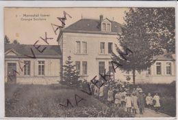 """Cpa Animée  """" Morestel - Groupe Scolaire  """" ( Ecole Des Filles ) - Morestel"""