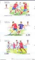 2017. Tajikistan, World Football Championship Russia'2018, 3v IMPERFORATED, Mint/** - Tajikistan
