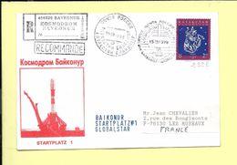 ENVELOPPE: Aerospatiale, Envoi Recommandé De Baikonur ( Russie )  Startplatz N° 1  Globalstar  Le 15 - 03 - 1999 - FDC & Commemoratives