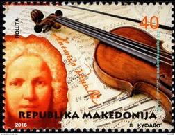 Macedonia - 2016 - Antonio Vivaldi - Mint Stamp - Macedonia
