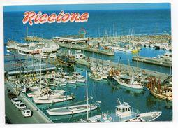 Italie--RICCIONE--Port Canal (bateaux) ---   Timbre --cachet - Rimini