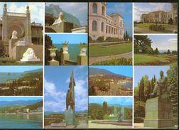 USSR Ukraine Stationery Postcards Yalta Crimea 1984, Set Of 10 PC - 1923-1991 USSR