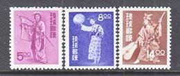 Ryukyu  36-8    **    COSTUMED  DANCERS - Ryukyu Islands