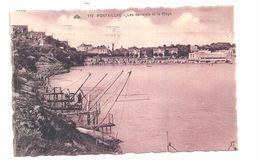 CPA Sépia 1936 Pontaillac Les Carrelets Et La Plage, Le Casino Au Fond, N°172 - France