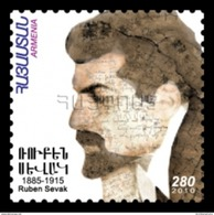 Armenia MNH** 2011 Mi 739 125th Anniversary Of The Birth Of Ruben Sevak Armenian Poet, Prose-writer And Doctor - Armenia