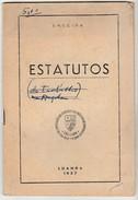 Estatutos * Angola * Luanda * 1957 * Sindicato Nacional Dos Empregados Do Comércio E Da Indústria Da Província De Angola - Portugal