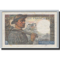 France, 10 Francs, 10 F 1941-1949 ''Mineur'', 1949, 1949-06-30, KM:99f, SUP+ - 1871-1952 Circulated During XXth