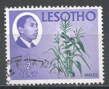 Lesotho 1967. Scott #25 (U) King Moshoeshoe II, Corn, Mais * - Lesotho (1966-...)