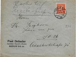 40-59 - Enveloppe Envoyée De Berlin 1921 - Briefe U. Dokumente