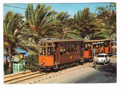 Train Tram Tramway Espagne Mallorca Puerto Soller - Tramways
