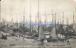 78208 DENMARK RONNE PART OF THE PORT SHIP POSTAL POSTCARD - Denmark