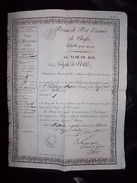 Document 1841 - Permis De Port D'armes De CHASSE - Souigny ( Allier 03 ) - Documents Historiques