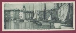 150917 - 66 ARLES SUR TECH Chocolaterie CANTALOUP CATALA CEMOI - VUE PANORAMIQUE CARTE DOUBLE - 83 ST TROPEZ - Le Porte - Saint-Tropez