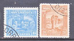 Companhia De Mozambique  162-3  (o)   IVORY   GOLD  PANNING - Mozambique