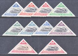 COMPANIA  MOZANBIQUE  165-74   *  AERO   TRIANGLES - Mozambique