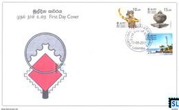 Sri Lanka Stamps 2017, Personalized Definitive, Punkalasa, Kandyan Dancer, Lighthouse, FDC - Sri Lanka (Ceylon) (1948-...)